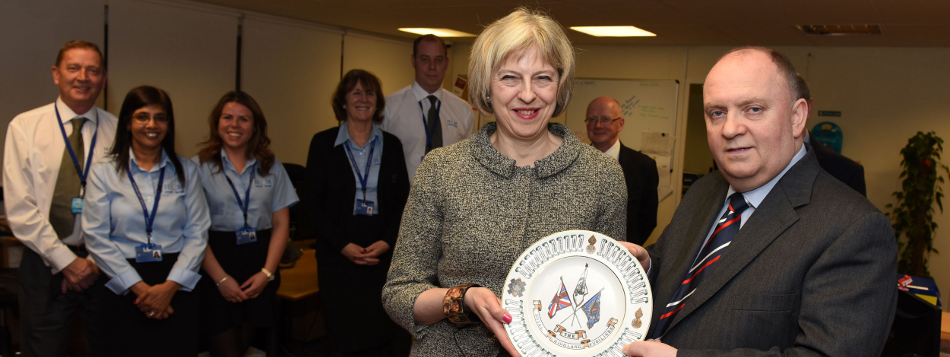 H&M Security Visit from Home Secretary Theresa May